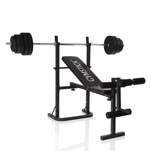 Gymstick Weight Bench with 40 kg set