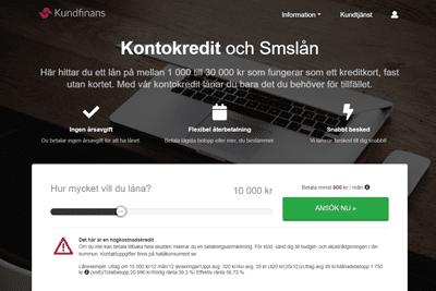 Kundfinans Screenshot