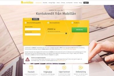 Mobillån Screenshot