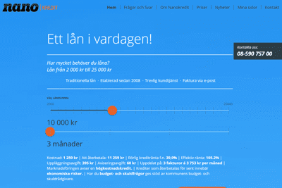 Nanokredit Screenshot
