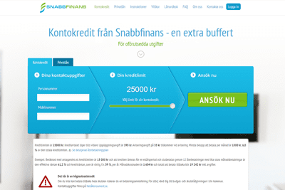 Snabbfinans Screenshot